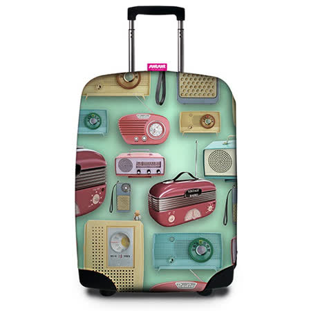 【Suitsuit】 荷蘭品牌行李箱套- 復古收音機(適用24-28吋行李箱)