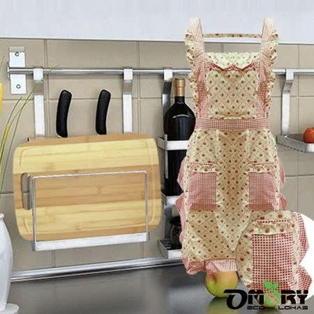 【OMORY】集水溝竹木砧板-大(贈圍裙)