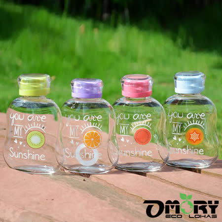 【OMORY】趣味水果玻璃水瓶350ml-4色
