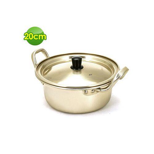 【OMORY】經典雙耳韓國泡麵鍋20CM(附鍋蓋)隨貨限量贈品