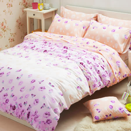 Aileen-粉色假期-柔絲絨單人兩件式床包組