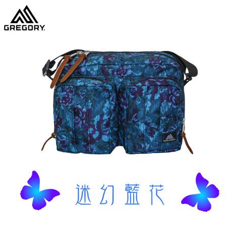 【美國Gregory】Twin Pocket Shoulder日系休閒側背包-迷幻藍花-S