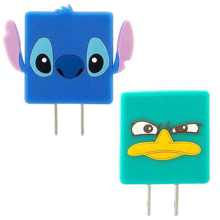 【Disney】可愛造型充電轉接插頭 USB充電器-泰瑞/史迪奇