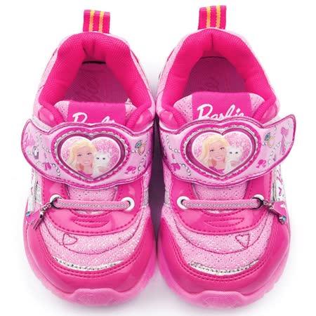 童鞋城堡-Barbie芭比 中大童 LED電燈運動鞋 BR6806-粉