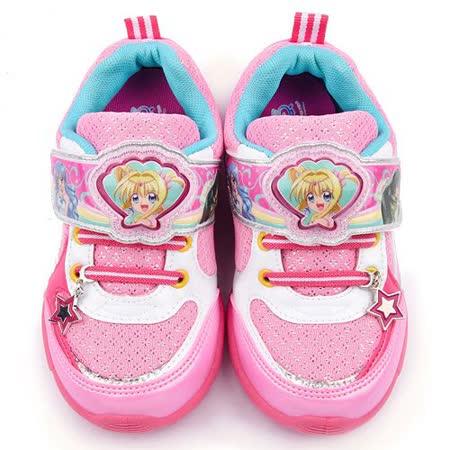 童鞋城堡-真珠美人魚 中大童 LED造型電燈運動鞋PI5889-粉