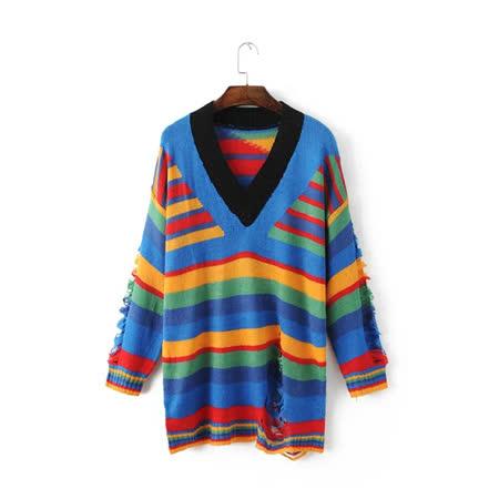 【nata】繽紛線條針織衫
