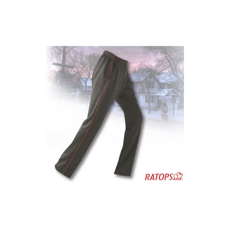【瑞多仕-RATOPS】中性款 刷毛保暖長褲(出芽配).長袖衛生褲.保暖褲_DB5936 暗綠/桔橙色 V1
