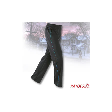 【瑞多仕-RATOPS】中性款 刷毛保暖長褲(出芽配).長袖衛生褲.保暖褲_DB5939 墨藍/皇家藍 V1