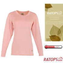 【瑞多仕-RATOPS】女款 Thermolite 保暖圓領內衣.衛生衣_DB5085 淺粉紅