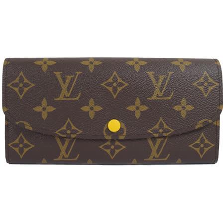 Louis Vuitton LV M61535 EMILIE 新款經典花紋扣式零錢長夾_現貨