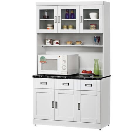HAPPYHOME 艾菲爾4尺碗盤櫃組UZ6-360-3-兩色可選