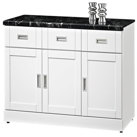 HAPPYHOME 艾菲爾4尺石面碗盤櫃UZ6-360-6-兩色可選