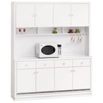 HAPPYHOME 詠佳5.3尺水鑽木面碗盤櫃組UZ6-361-1-兩色可選