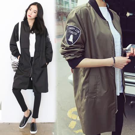 【韓國KW】氣質休閒拼接寬鬆風衣外套(現貨在台)