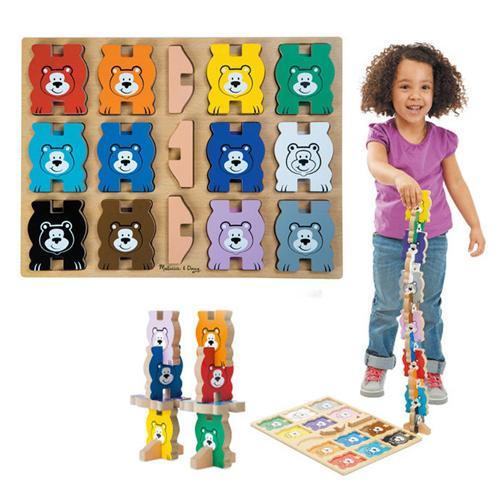 華森葳兒童教玩具 拼圖教具系列-立體拼圖-彩色熊 N7-9027