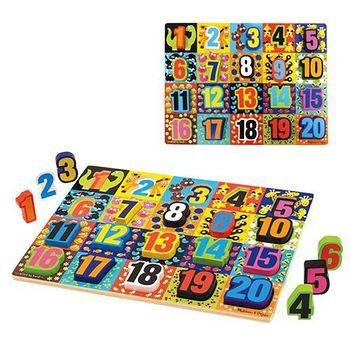 華森葳兒童教玩具 拼圖教具系列-厚片拼圖-超大數字拼圖 N7-3832