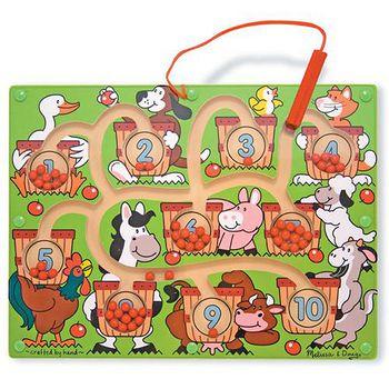 華森葳兒童教玩具 拼圖教具系列-迷宮拼圖-數量農場 N7-2280