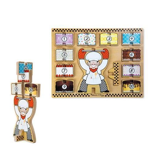 華森葳兒童教玩具 拼圖教具系列-立體拼圖-蛋糕先生 N7-9026