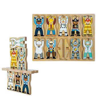 華森葳兒童教玩具 拼圖教具系列-立體拼圖-職業選手 N7-9025