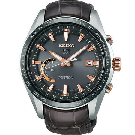 SEIKO 精工 ASTRON GPS 太陽能時尚衛星電波腕錶/45mm/8X22-0AG0G