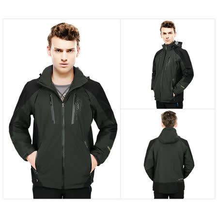 防風雨透氣舒適保暖外套【灰綠】