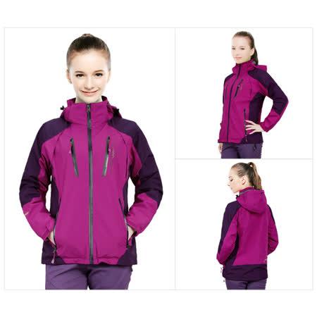 防風雨透氣舒適保暖外套【紫色】