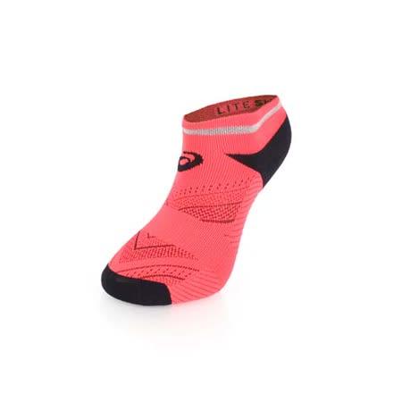 (男) ASICS 反光慢跑踝襪-短襪 慢跑 路跑 襪子 亞瑟士 鐵人三項 陽光桔黑