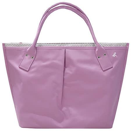 agnes b.  粉色點點內裡水餃包(大/日本款)