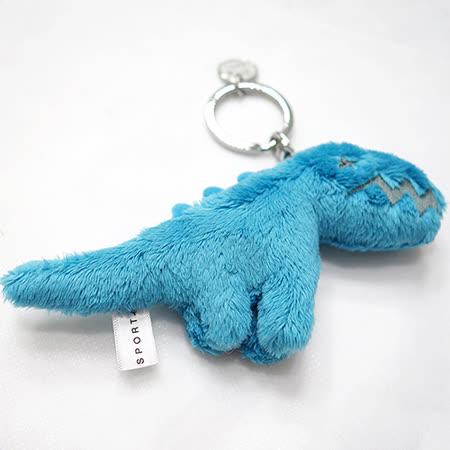 agnes b.絨毛恐龍造型鑰匙圈(藍色)
