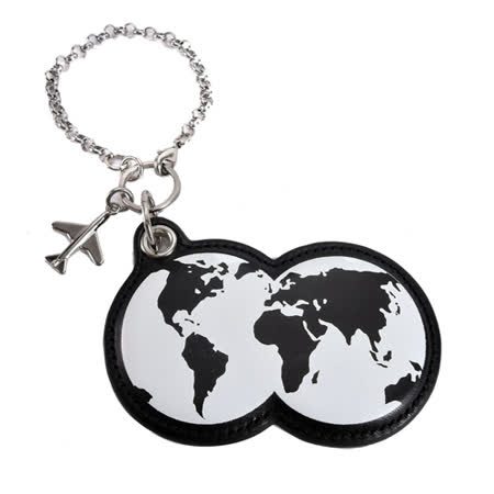 agnes b.地球造型皮革吊飾(黑)
