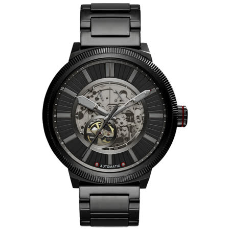 A│X Armani Exchange 鋼鐵身軀時尚機械腕錶-AX1416