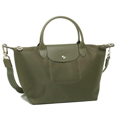 【私心大推】gohappy 購物網Longchamp Le pliage Neo 尼龍布短帶提/斜背兩用包(茉綠/小)推薦高雄 太平洋 百貨