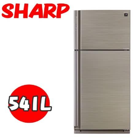【SHARP夏普】540公升J-TECH 節能雙門變頻冰箱 SJ-PD54V-SL (光耀銀)