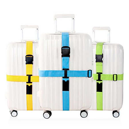 【旅遊首選、旅行用品】行李箱十字緊扣行李保護 束帶 打包帶 綑綁帶(兩入)