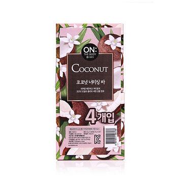 ON THE BODY椰子油潤膚香皂90g*4