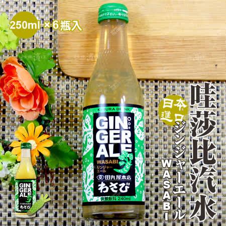 【台北濱江】原裝進口哇莎比汽水1箱(250mlx6瓶入)任選