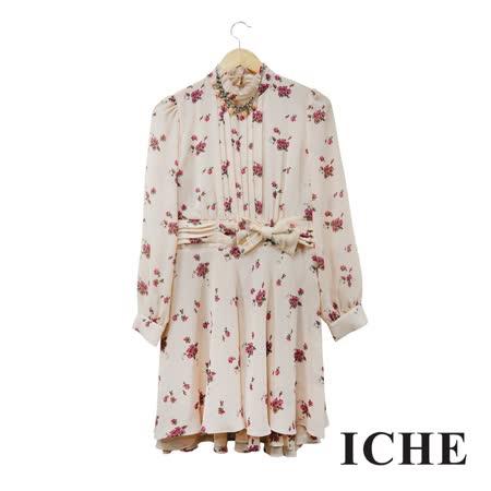 ICHE衣哲 卡其洋裝 附配件