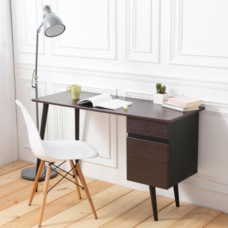 IDEA-北歐簡約風雙抽書桌