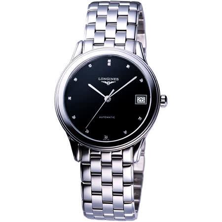 LONGINES 浪琴 旗艦系列真鑽機械錶-黑/35mm L47744576