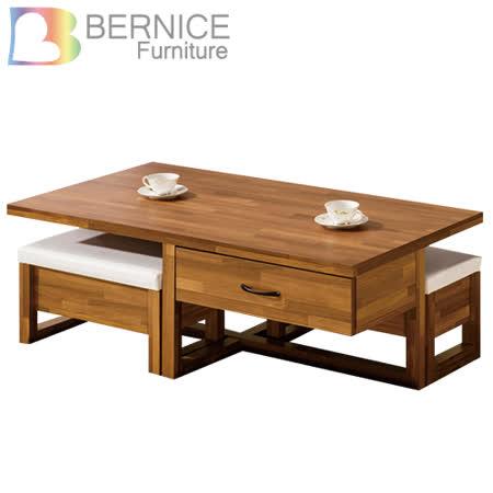 【勸敗】gohappy 線上快樂購Bernice-薩爾4.3尺二抽大茶几(送收納椅凳)評價大 買 家 購物 金