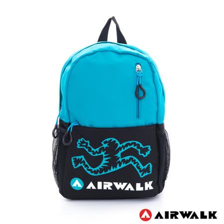 AIRWALK -小人跑跑 1/2 萌系列兒童後背包 - 天空藍