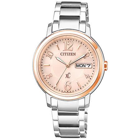 【CITIZEN 星辰】xC 光動能時尚女用不鏽鋼腕錶(33mm/EW2424-50W)