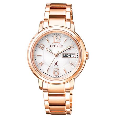 【CITIZEN 星辰】xC 玫瑰愛戀時尚光動能女用腕錶(33mm/EW2422-55A)