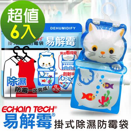 ECHAIN TECH 易解霉 可掛式除濕防霉袋 (6包組)