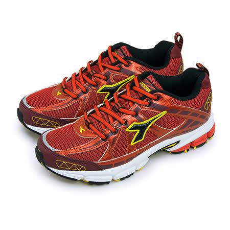 【男】DIADORA 全地形專業慢跑鞋 KEEP ON 勁量奔馳系列 紅黃黑 3622