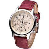 SEIKO 時尚新貴經典計時腕錶-米黃(SNDC31P1)