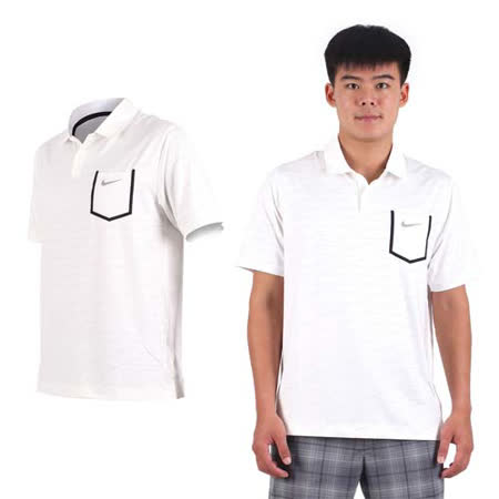 (男) NIKE GOLF 排汗短袖針織衫- 高爾夫球 POLO衫 立領 T恤 白黑灰