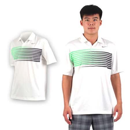 (男) NIKE GOLF 排汗短袖針織衫- 高爾夫球 POLO衫 立領 T恤 白綠黑 XL