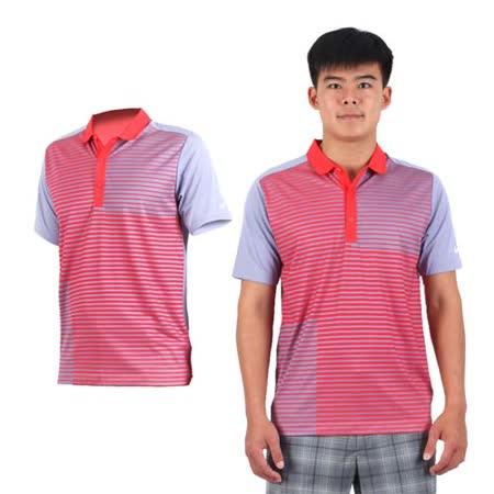 (男) NIKE GOLF 排汗短袖針織衫- 高爾夫球 POLO衫 立領 T恤 紅紫