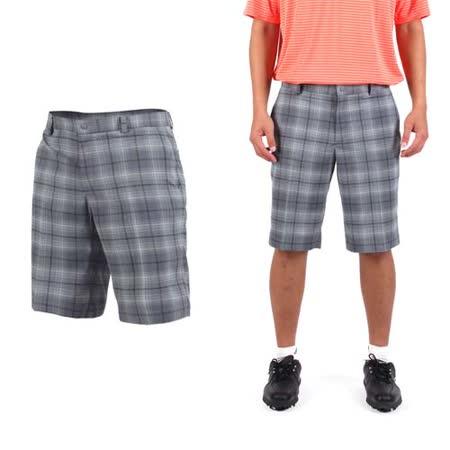 (男) NIKE GOLF 排汗格紋短褲- 高爾夫球 POLO衫 立領 T恤 灰
